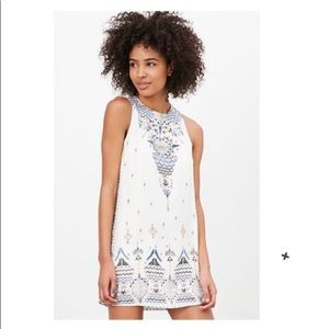 UO Ecote Guinevere Open Back Tribal Frock Dress